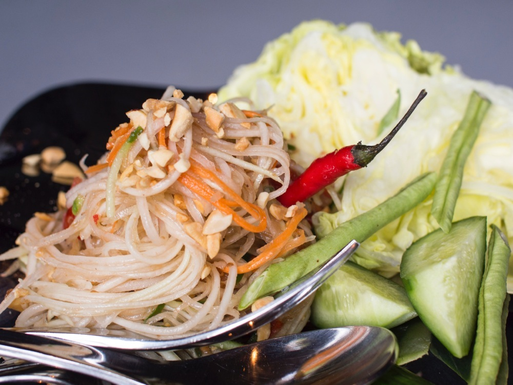 Green Papaya Salad AKA Yum Sum-O @ T for Thai