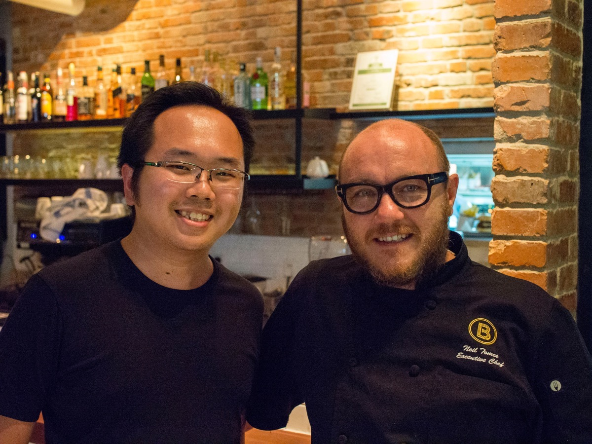 Fred Lin AKA The Shanghai Kid with Chef Neil Tomes