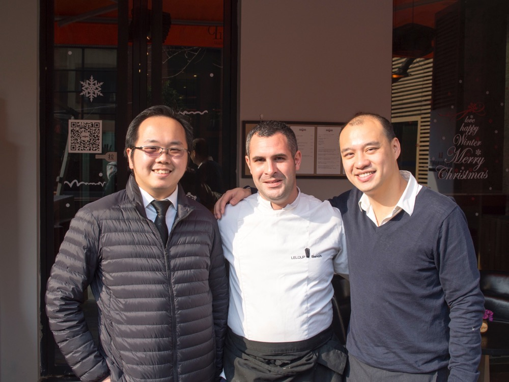 The Shanghai Kid, Chef Benoit Leloup and The Owner