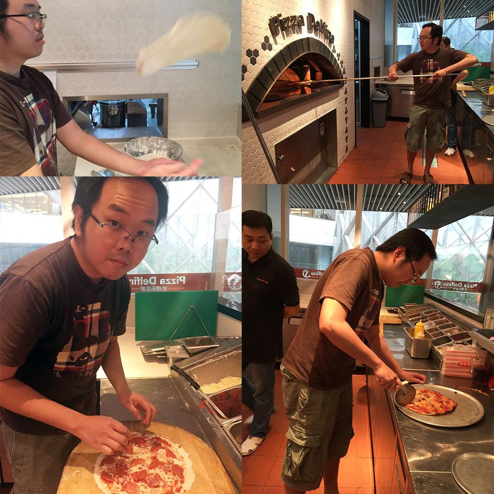The Shanghai Kid makes Pizza