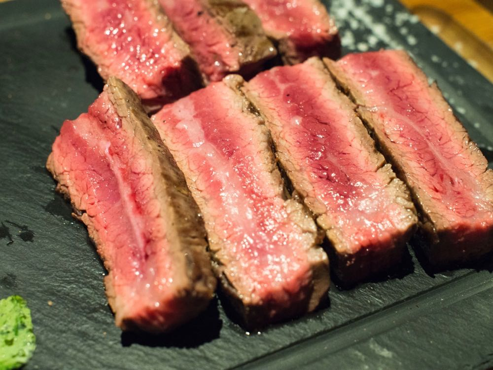 Flank Steak M4 Wagyu at Atto Primo, Shanghai