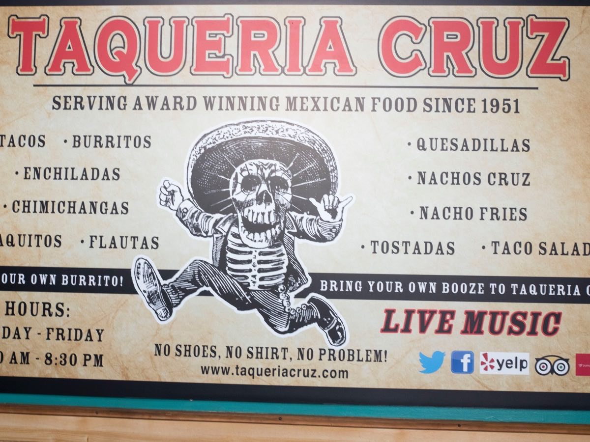 Sign board Taqueria Cruz