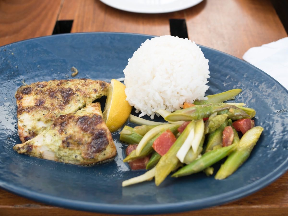 coconut crusted Ono fish