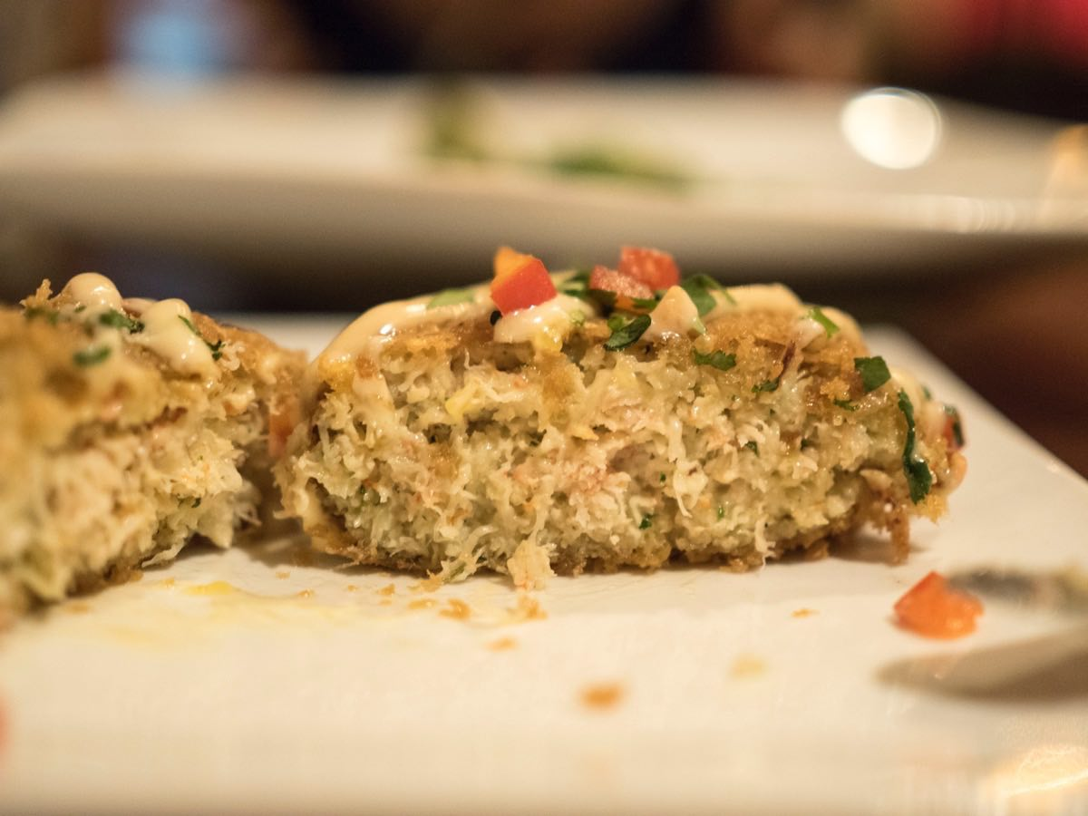 A good crab cake is filled with ... crab meat!