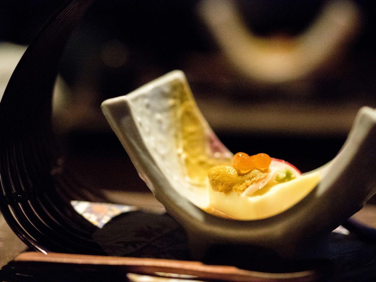 Uni, Ikura, Tofu