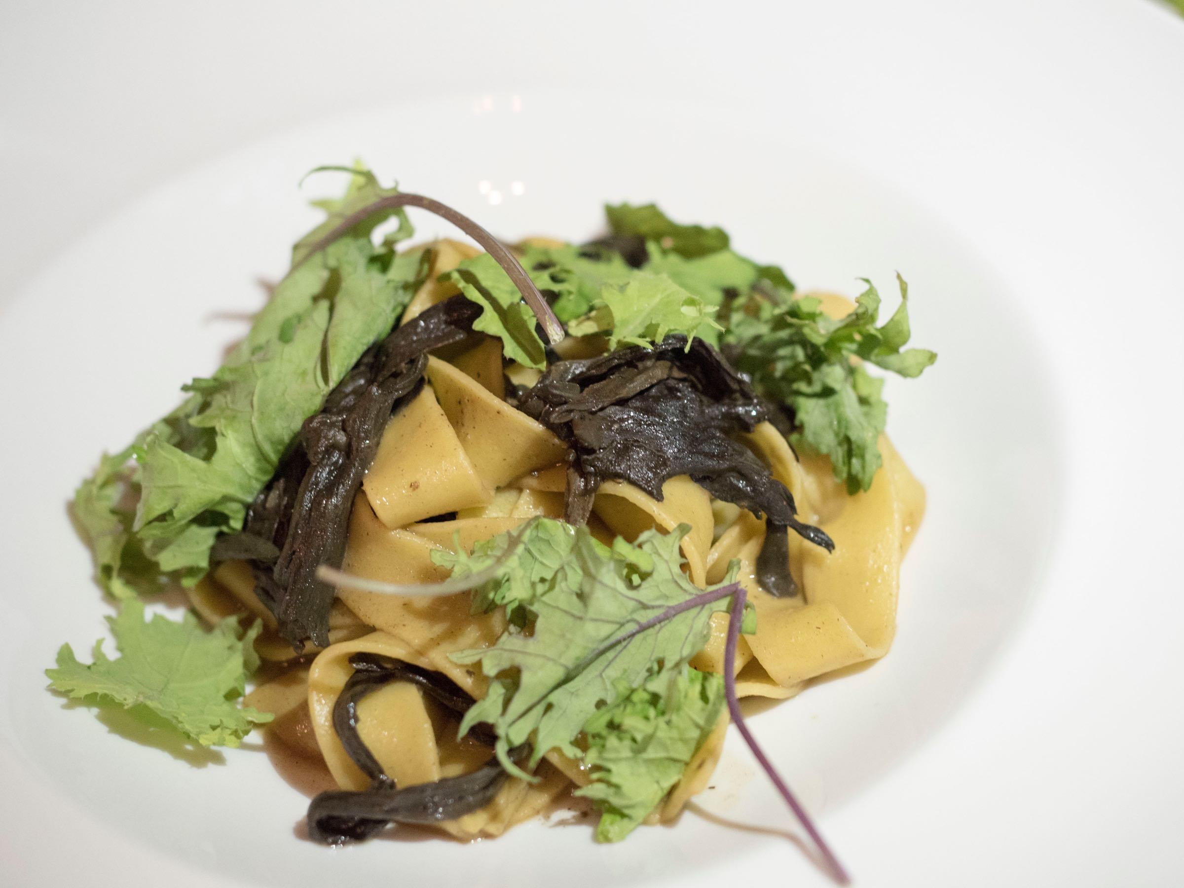 Black Trumpet Mushrooms Tagliatelle