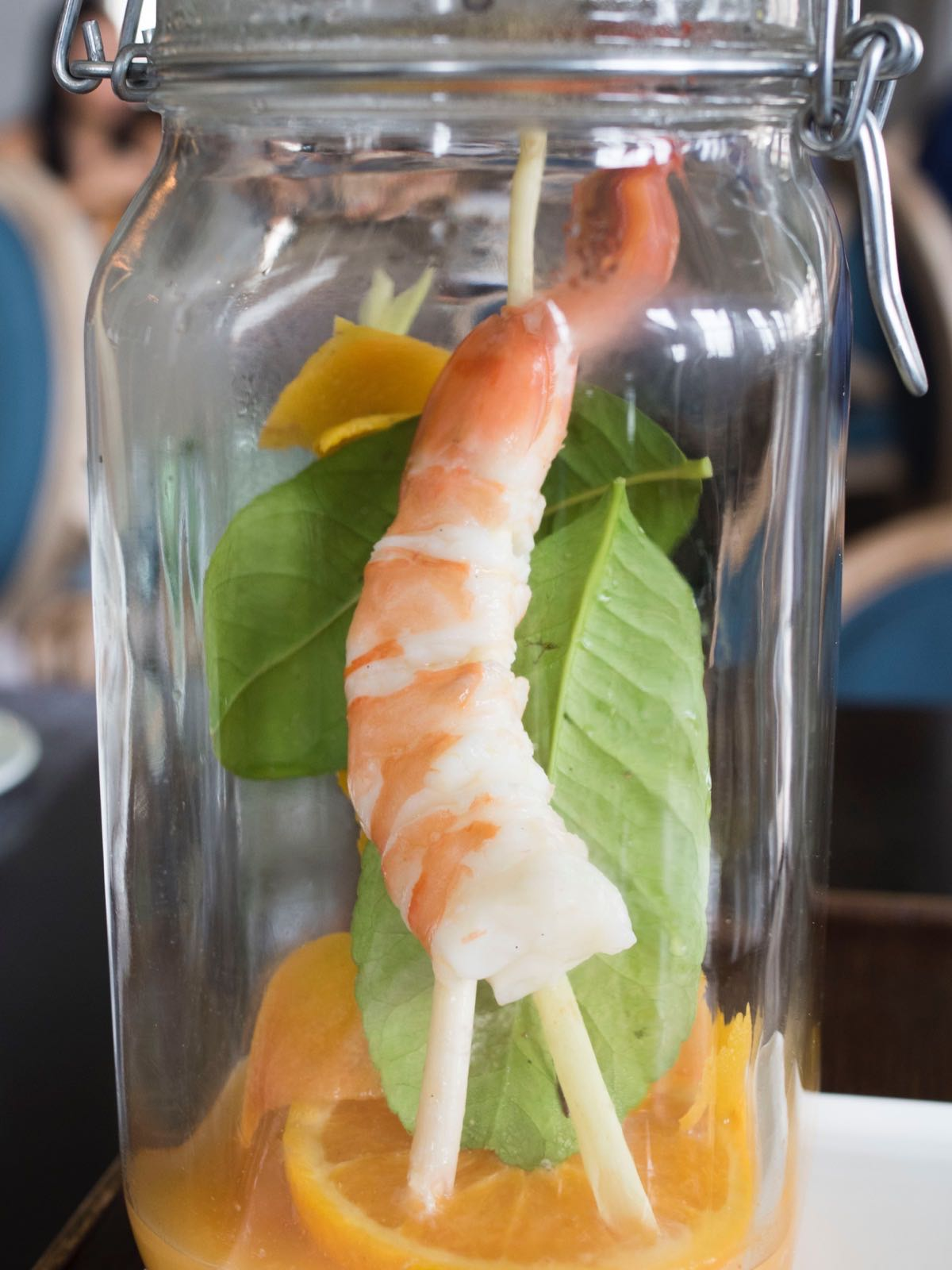 Not your usual prawn on a stick
