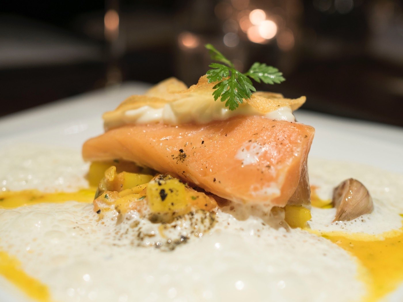 Beautifully cooked salmon