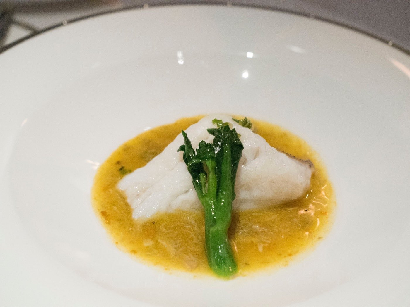 Steamed East Spotted Grouper, Hairy Crab Roe